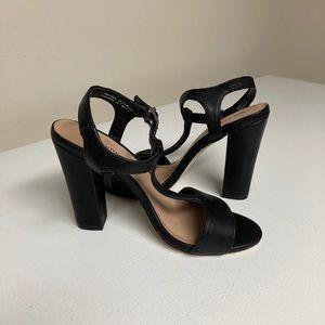 NWOT Call It Spring black heeled sandals